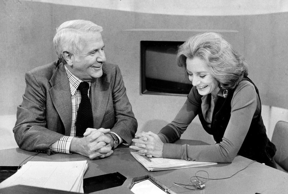 Barbara Walters was the nation's first female co-anchor on an evening newscast in 1976 on ABC. But Harry Reasoner resented sharing responsibilities with her and ratings fell.